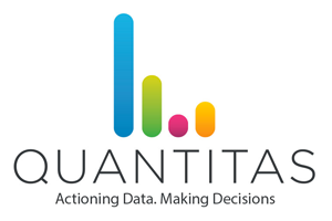 quantitas logo see far smart glasses